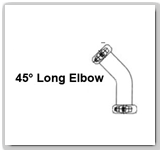 Eaton Flexmaster 45º Long Elbow Pipe Joints