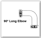 Eaton Flexmaster 90º Long Elbow Pipe Joints