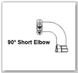 Eaton Flexmaster 90º Short Elbow Tube Joints